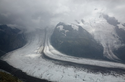 Glacier in the Alps, Switzerland