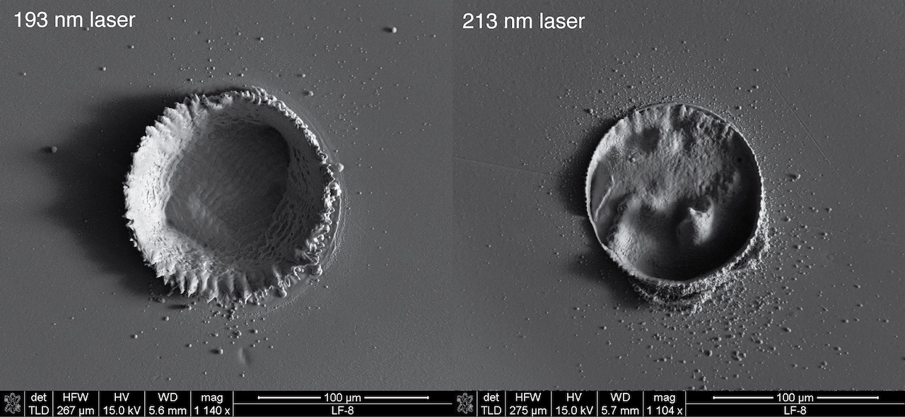 laser craters